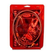 HBK2011 FIT HEL Stainless Brake Hoses F&R OEM Honda Bros 650 1988>1995