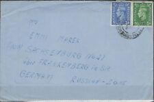 England Letter (198+202) Bridgewater after Sachsenburg (845044)