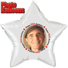 80TH BIRTHDAY PHOTO BALLOON Custom Printed Party Supplies