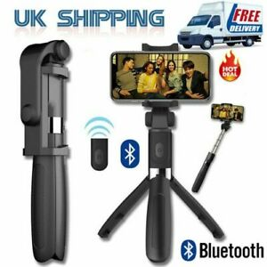 Bluetooth Selfie Tripod Phone Holder Stick Monopod With Wireless Remote Shutter