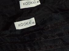 KOOKAI LinedBlkSilkTulleFlaredParty Sz40 as NEW