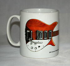 Guitar Mug. John Lennon's natural wood 1958 Rickenbacker 325 Capri illustration.