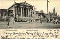 Wien Österreich AK 1905 Reichsrat-Palast Reichsrath Parlament Brunnen Denkmal