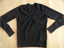 TOM TAILOR schöner Pullover schwarz V-Ausschnitt Gr. S TOP MD1