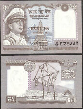 NEPAL 1972 RUPEE 1 KING MAHINDRA, P - 16, Signature 8 UNC