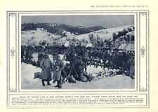 1915 Austrian Sketch Galicia Austrian Troops Uzsok Pass