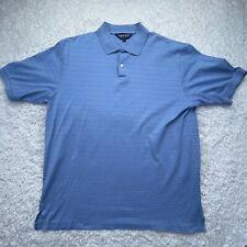 Polo Golf Ralph Lauren Shirt Adult Large Blue Short Sleeve Pima Cotton Mens D4