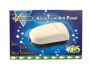 2X Air Pump Two Outlets 25-40 Gallon Fresh Salt Water Aquarium Fish Tank 2x24GPH