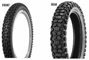 Kenda 3.00-21 & 4.60-17 K270 Tires Honda XL250R/XL350R/XL500R & Kawasaki KLR250