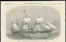 1867 - Antique Print MARITIME City of Limerick Steam Ship London Brazil  (105A)