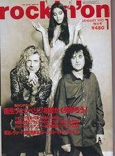 Rare Led Zeppelin, Jimmy Page & Robert Plant Japan magazine. 1995