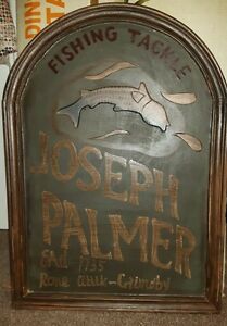 Wooden Fishing Tackle Sign