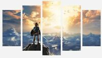 Zelda - Breath The Wild Nintendo Classic 5 Split Panel Canvas Pictures Prints