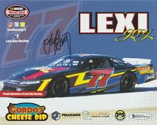 2017 Lexi Gay signed Gordo's Cheese Dip NASCAR Whelen Late Model postcard