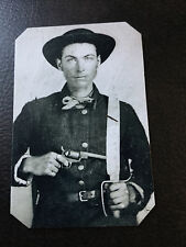 civil war Confederate Sodier With Pistol And Knife tintype C926RP