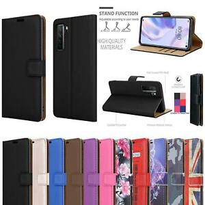 For Huawei P40 Lite 5G Case, Slim Magnetic Leather Wallet Shockproof Phone Cover