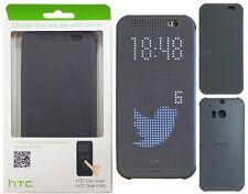 New Original HTC One M8 Dot View Folio Case HC M100 Dark Gray 99H11416-00