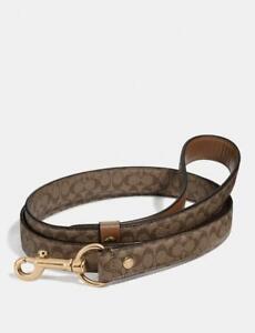 Coach Large Pet Leash In Signature Cross Grain Leather F26906 - Khaki