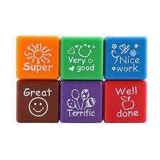 6pc Teachers Stamper Self Inking Praise Reward Stamps Motivation Sticker School