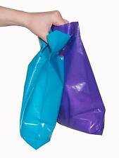 200 Small Shopping Merchandise Bags Glossy Purple Teal Plastic Merchandise Cut