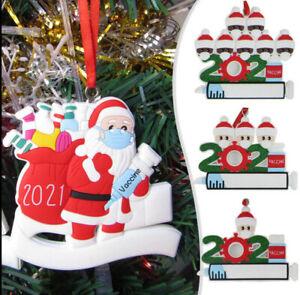 2021 Christmas Ornament Santa Claus Decorate Xmas tree Hanging Vaccine Pend Gift