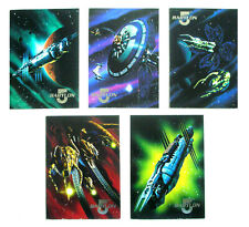 Babylon 5 ~ 5 1995 Space Gallery Subset Trading Cards