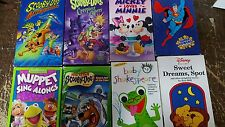 Huge lot of childrens VHS tapes Winnie the Pooh scooby-doo Sesame Street Blues C