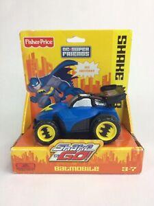 Fisher Price Shake 'N Go Talking Batman Batmobile Car Blue Mattel 2007
