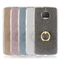 Bling Glitter Ring Stand Holder Case Cover For Moto E5 Play / G7 / One P30 Play