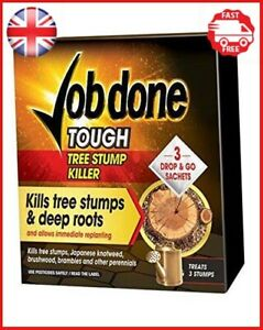 Job Done Tree Stump Killer (3 Sachet) Ivy Japanese Knot Weed Brambles & Nettles