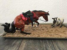 Breyer Model Horse Wheelin & Dealing OOAK Drastic Traditional Cutting Horse&Calf