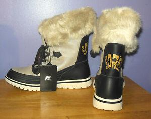 Gorgeous NWT Sorel Snowdance Lace Waterproof Faux Fur Boots Size 8.5
