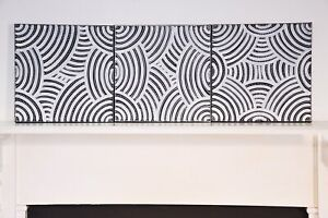 Collen Wallace Aboriginal Art Triptych Awelye Acrylic On Canvas Signed Verso