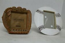 Two (2) Baseball Picture Frames - 1 Ball and 1 Realistic Leather Looking Glove