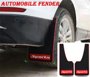 Universal Car Truck Mud Flap Mudguards Fender Black & Red Sport Styling 2PCS