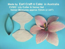 Lily Cutter & Veiner Cake Decorating Sugar Flower Gum Paste Tools