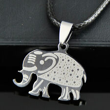 Lovely Elephant Stainless Steel Pendant Necklace