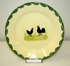 Zeller Keramik Teller flach Kuchenteller Frühstücksteller 21 cm Hahn und Henne
