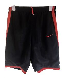 Nike Lined L/W Gym Fitness Sports Shorts Bred Large Yth Sml Adult 12-13 Yrs VGC