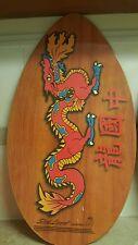 """2001 Slick Lizard Skim Pro Surf Board Skim Board Wood Dragon 35"""" X 20"""""""