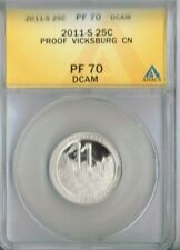 2011-S Proof Vicksbug National Military Park ANACS Authenticated PF 70