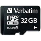 Verbatim - 32GB microSDHC Card Class 10 w Adapter