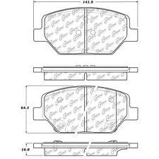 Disc Brake Pad Set-Premium Ceramic Pads with Shims Front Centric 301.18860