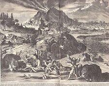 Erdbeben Tokio Japan 1650 - Alter Druck Antique Print von 1900 von Montanus 1669