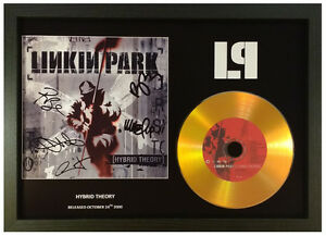 LINKIN PARK 'HYBRID THEORY' SIGNED GOLD CD DISC COLLECTABLE MEMORABILIA GIFT