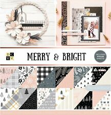 """American Crafts DCWV 12"""" x 12"""" Merry and Bright Christmas Paper Stack - Foil"""