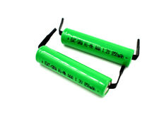 2 pcs AAA Size 1.2V 800/850 mAh NiMH Rechargeable Battery Cell With Tabs