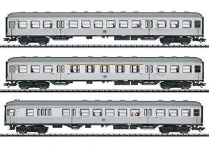 "Trix 23495 Personenwagen-Set ""Silberlinge"" der DB 3-teilig mit LED-B.#NEU in OVP"