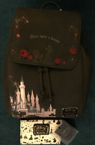 Sleeping Beauty Castle Once Upon A Dream Loungefly Disney Mini Backpack & Wallet