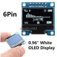 """0.96"""" 6Pin 12864 SPI&IIC I2C White OLED Display Module For Arduino Raspberry Pi"""
